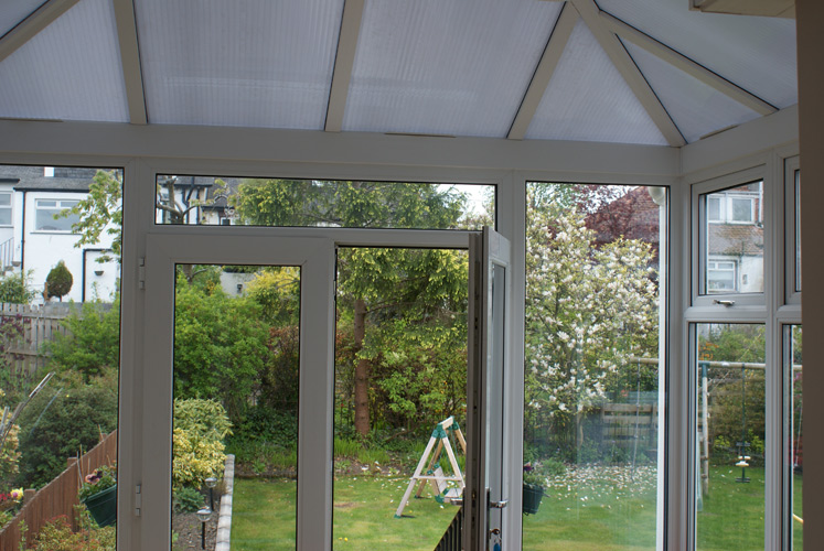 Inside Contemporary Edwardian Triple Glazed uPVC Conservatory
